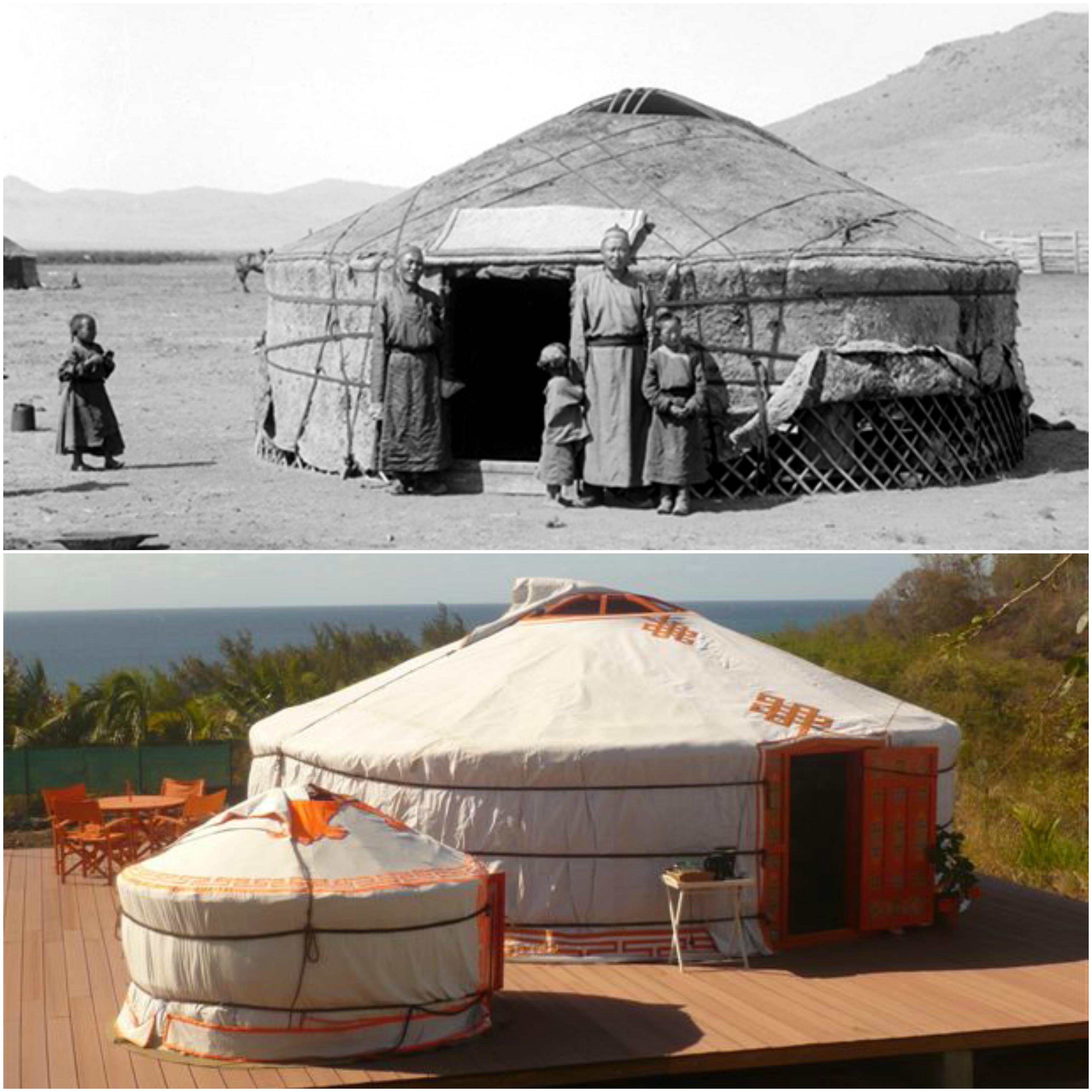 para-el-glamping-la-yurta-es-una-tienda -de-campana-procedente-de-mongolia