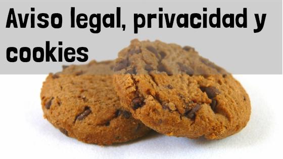 Aviso legal, politica de privacidad y de cookies